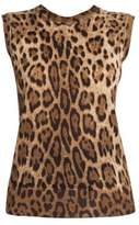 Dolce & Gabbana Leopard-Print Shell Top
