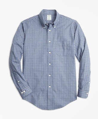Brooks Brothers Non-Iron Milano Fit Check Sport Shirt