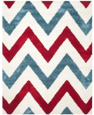 """Safavieh Shag Kids Ivory and Red 8'6"""" x 12' Area Rug"""