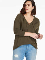 Lucky Brand Lace Up Detail Sweater