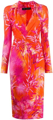 Versace Jungle Print Fitted Shirt Dress