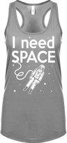 Indica Plateau Womens I Need SPACE Racerback Tank Top Heather Grey