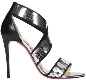 Christian Louboutin Xili 100 Sandals In Black Leather