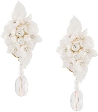 Magda Butrym Waterlily embellished earrings