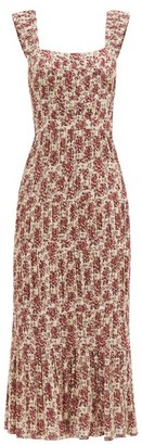 Sir - Flore Floral-print Cotton-blend Dress - Red Print