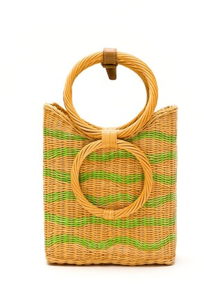 Serpui Marie Wicker Tote Bag