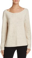 Eileen Fisher Petites Speckled Boat-Neck Sweater