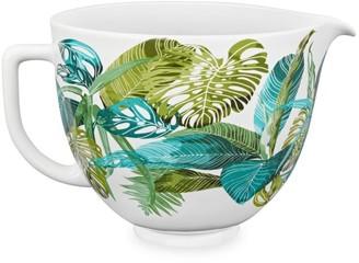 KitchenAid 5-Quart Tropical Floral Ceramic Bowl