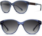 Shwood Women's 'Madison' 54Mm Polarized Sunglasses - Black/ Ebony/ Grey Fade Polar