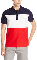 Lacoste Men's Short Sleeve Color Block Textured Pique Polo
