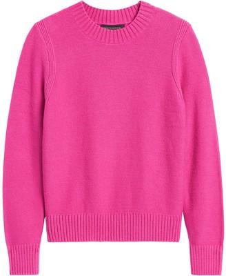 Banana Republic Supersoft Cotton Crew-Neck Sweater