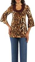 24/7 Comfort Apparel Print Tunic Top