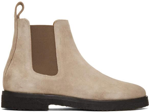 Etq Amsterdam Grey Suede CB 01 Chelsea Boots