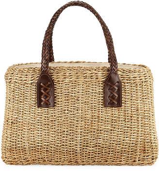 Laboratorio Capri Woven Wicker Straw Tote Bag