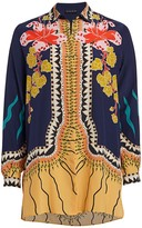 Etro Garden of Eden Silk Tunic Blouse