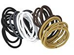 Goody Ouchless No Metal Elastics, 4mm Java Bean (150-Count)