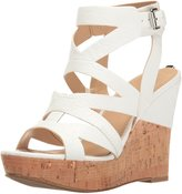 GUESS Women's Hannele Cork Wedges
