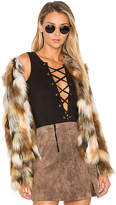 Tularosa x REVOLVE Averly Faux Fur Coat in Brown. - size XL (also in )