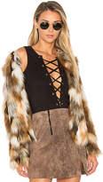 Tularosa x REVOLVE Averly Faux Fur Coat in Brown