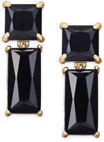 Kate Spade Shine On Gold-Tone Baguette Crystal Earrings