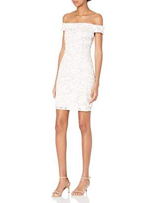 Adrianna Papell Women's Sequin Off-The-Shoulder Dress