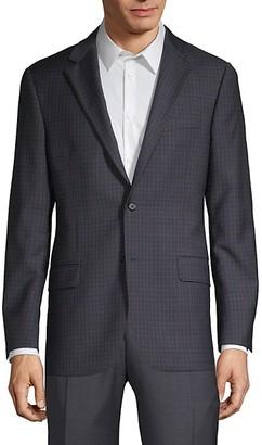 Hickey Freeman Mini Check-Print Wool Sportcoat