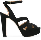 MICHAEL Michael Kors platform crossover sandals - women - Leather/Suede - 5
