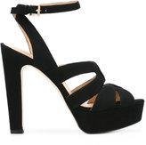 MICHAEL Michael Kors platform crossover sandals - women - Leather/Suede - 7.5