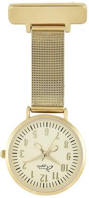 Bermuda Watch Company Annie Apple Gold Mesh Nurse Fob Watch