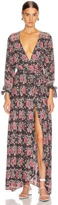 Natalie Martin Danika Long Sleeve Dress in Vintage Flowers Violet | FWRD