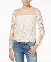 Endless Rose Lace Illusion-Detail Top