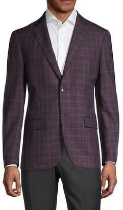 Calvin Klein Plaid Wool-Blend Sportcoat