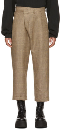 R 13 Brown Check Crossover Trousers