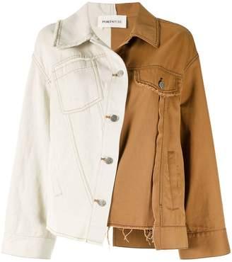 PortsPURE contrast-panel denim jacket