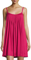 Hanro Juliet Pleated Babydoll Gown, Cranberry