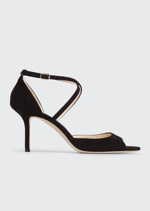 Jimmy Choo Emsy 85mm Suede Sandals