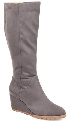 Brinley Co. Womens Comfort Lug Sole Wedge Boot