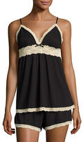 Flora By Flora Nikrooz Lace-Accented Cami and Shorts Pajama Set