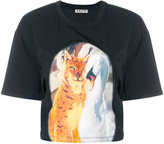 Aalto animal print panel T-shirt