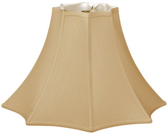 Royal Designs, Inc. 8 Sided Top Bottom Bell Basic Lampshade, Antique Gold, Antique Gold, 5