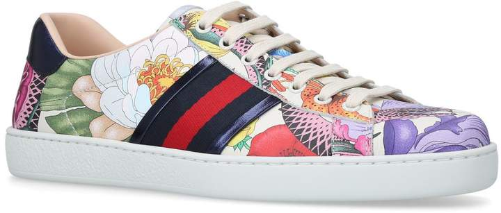 Gucci New Flora Ace Sneakers
