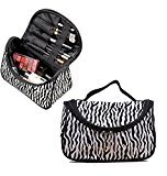 Travelmall Zebra Fashionable Makeup Bag Women Cosmetic Organizer Portable Toiletry Bags Travel Storage Organizer