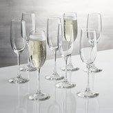 Crate & Barrel Boxed Champagne Flutes, Set of 8