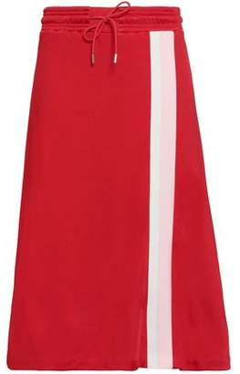Ninety Percent Flared Striped Jersey Midi Skirt