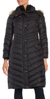Andrew Marc Hooded Faux Fur Trimmed Extreme Puffer Coat