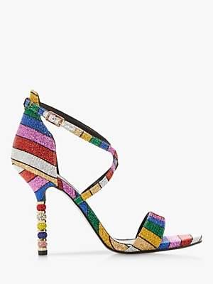 Dune Malibu Embellished Stiletto Heel Sandals, Multi