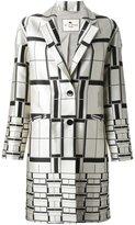 Etro square print coat