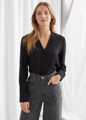 And other stories V-Neck Button Up Blouse