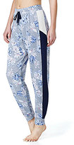 Kensie Floral French Terry & Mesh Lounge Jogger Pants