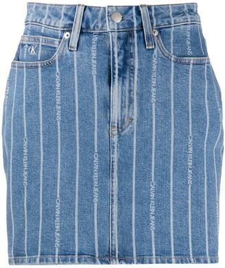 Calvin Klein Jeans Logo Stripe Skirt